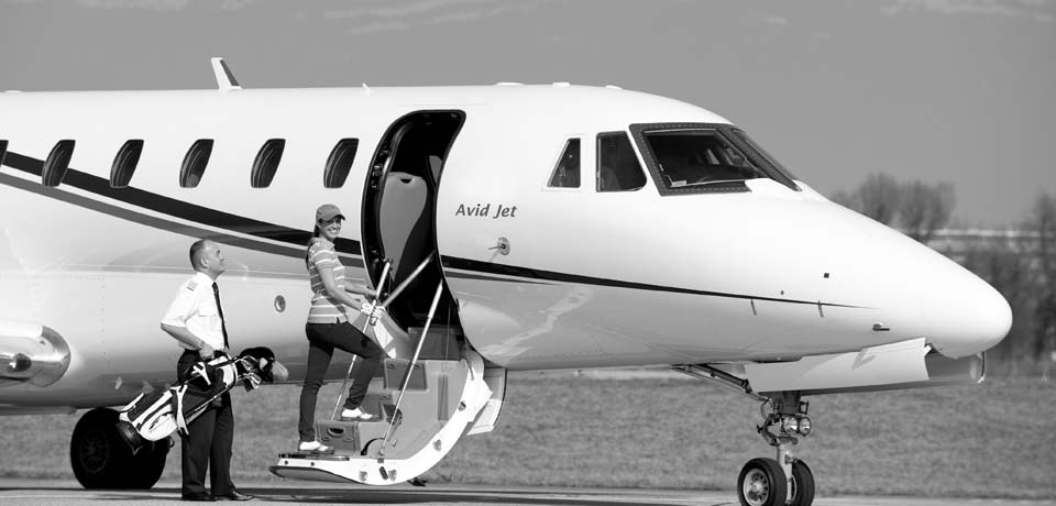 Avid Jet Boarding an Aircraft to Travel in style